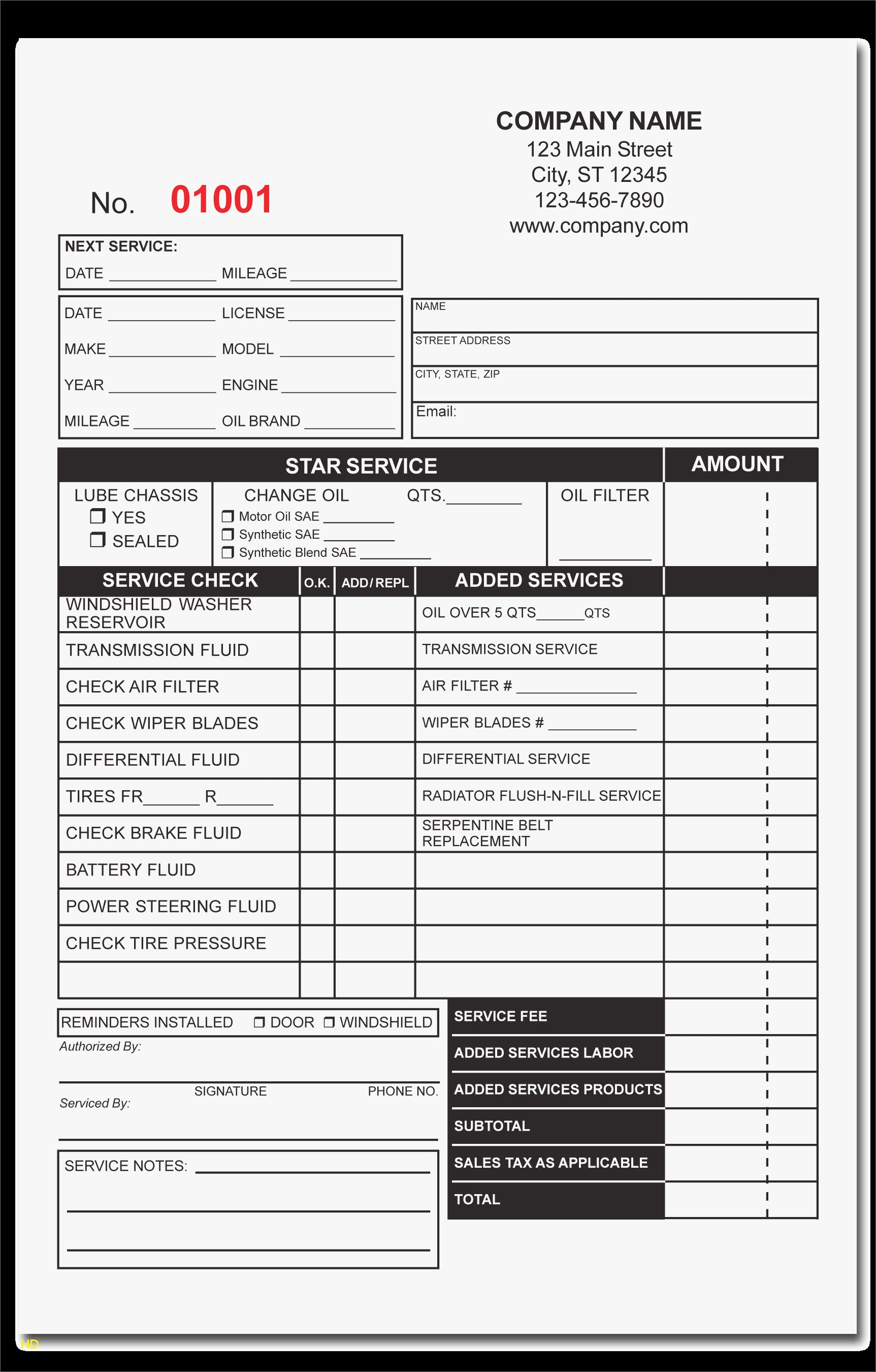 Auto Repair Template Free Awesome Free Printable Auto Repair Invoice Template Unique Make An