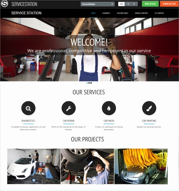 Auto Repair Template Free Beautiful 25 Auto Repair Website themes & Template