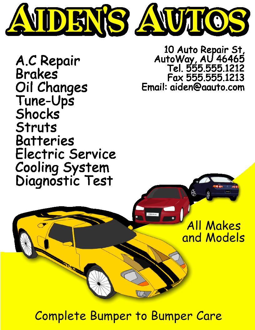 Auto Repair Template Free Inspirational Auto Repair Flyer Template Free View R Image