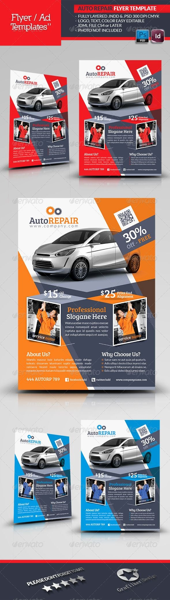 Auto Repair Template Free Luxury Automobile Repair Flyer Template
