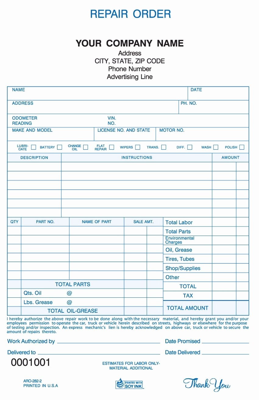 Auto Repair Template Free New Vehicle Repair Invoice Invoice Template Ideas