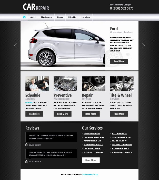 Auto Repair Website Template Awesome 20 Auto Parts & Cars HTML Website Templates