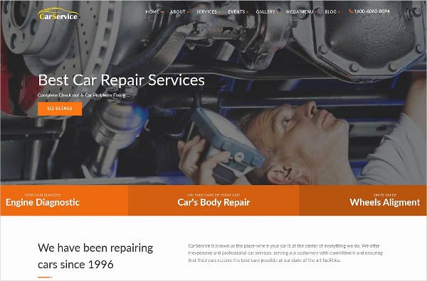 Auto Repair Website Template Awesome 25 Auto Repair Website themes & Template