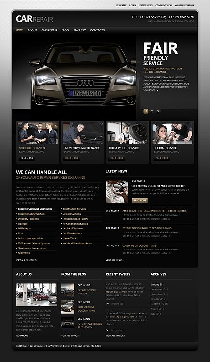 Auto Repair Website Template Awesome attention Getting Car Website Templates
