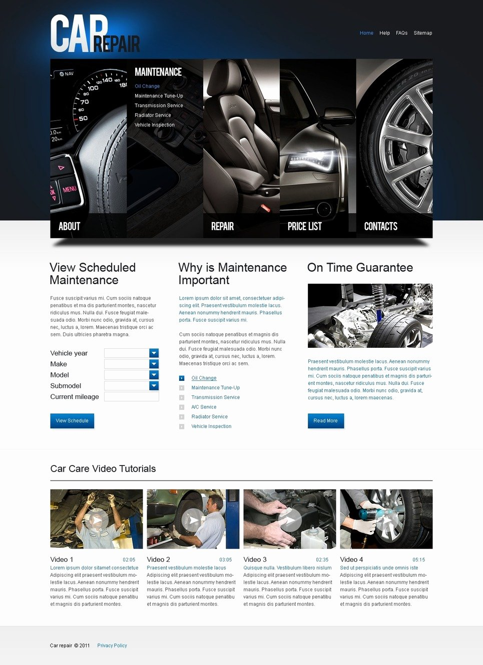 Auto Repair Website Template Awesome Car Repair Website Template