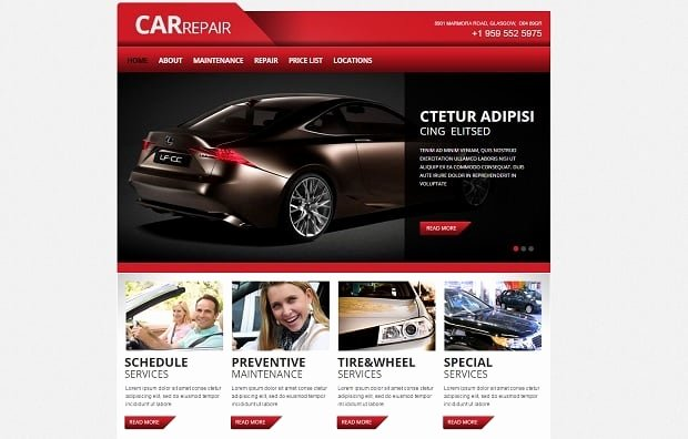 Auto Repair Website Template Awesome Car Repair Website Templates Take Your Auto Service Line