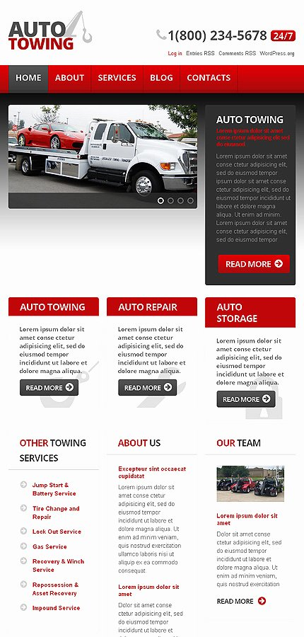 Auto Repair Website Template Beautiful Auto towing Car Repair Wordpress theme Web Design