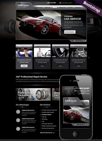 Auto Repair Website Template Beautiful Car Repair Service Website Template Mobile Responsive