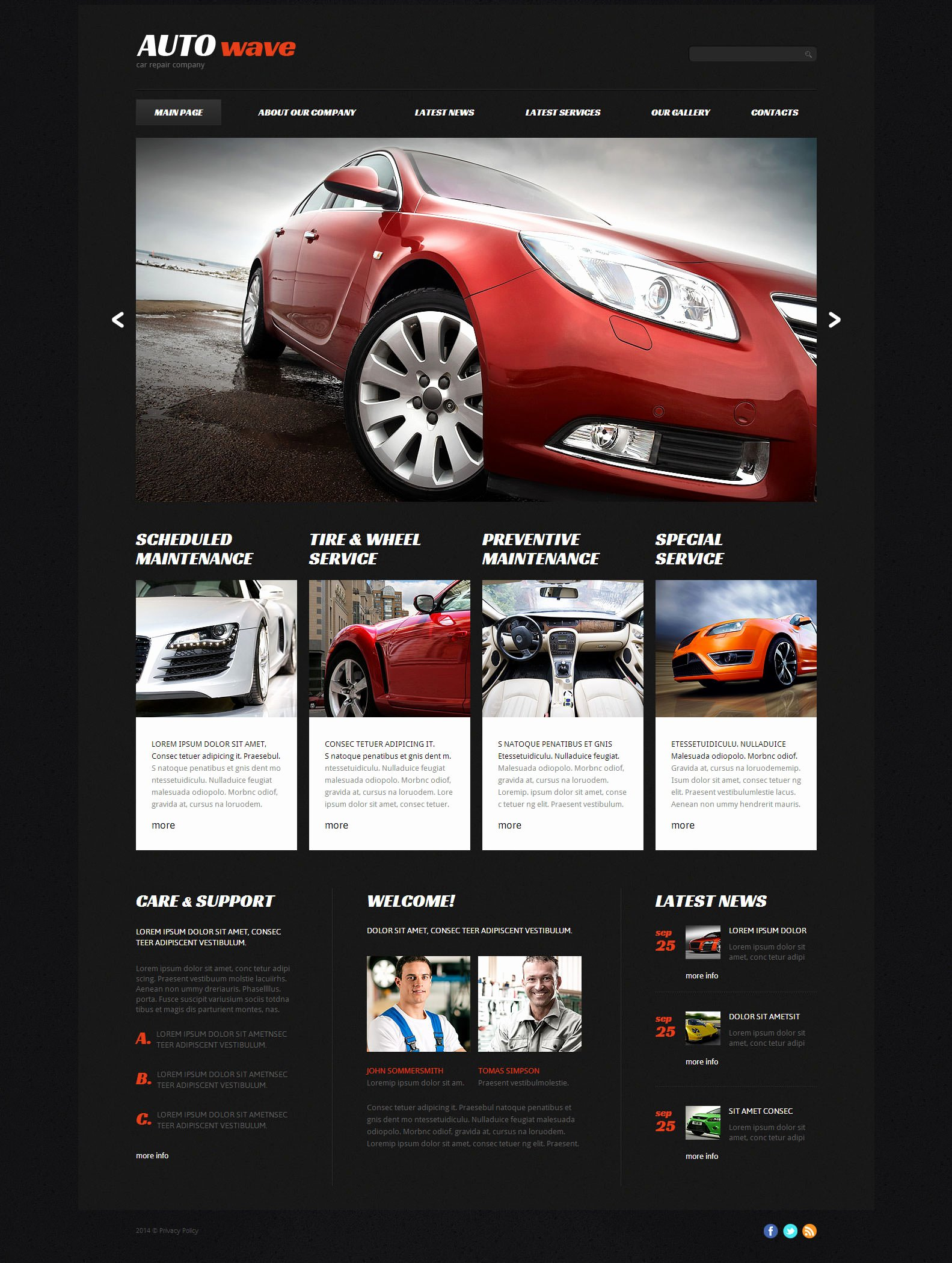Auto Repair Website Template Best Of 22 Best Premium Car Website Templates