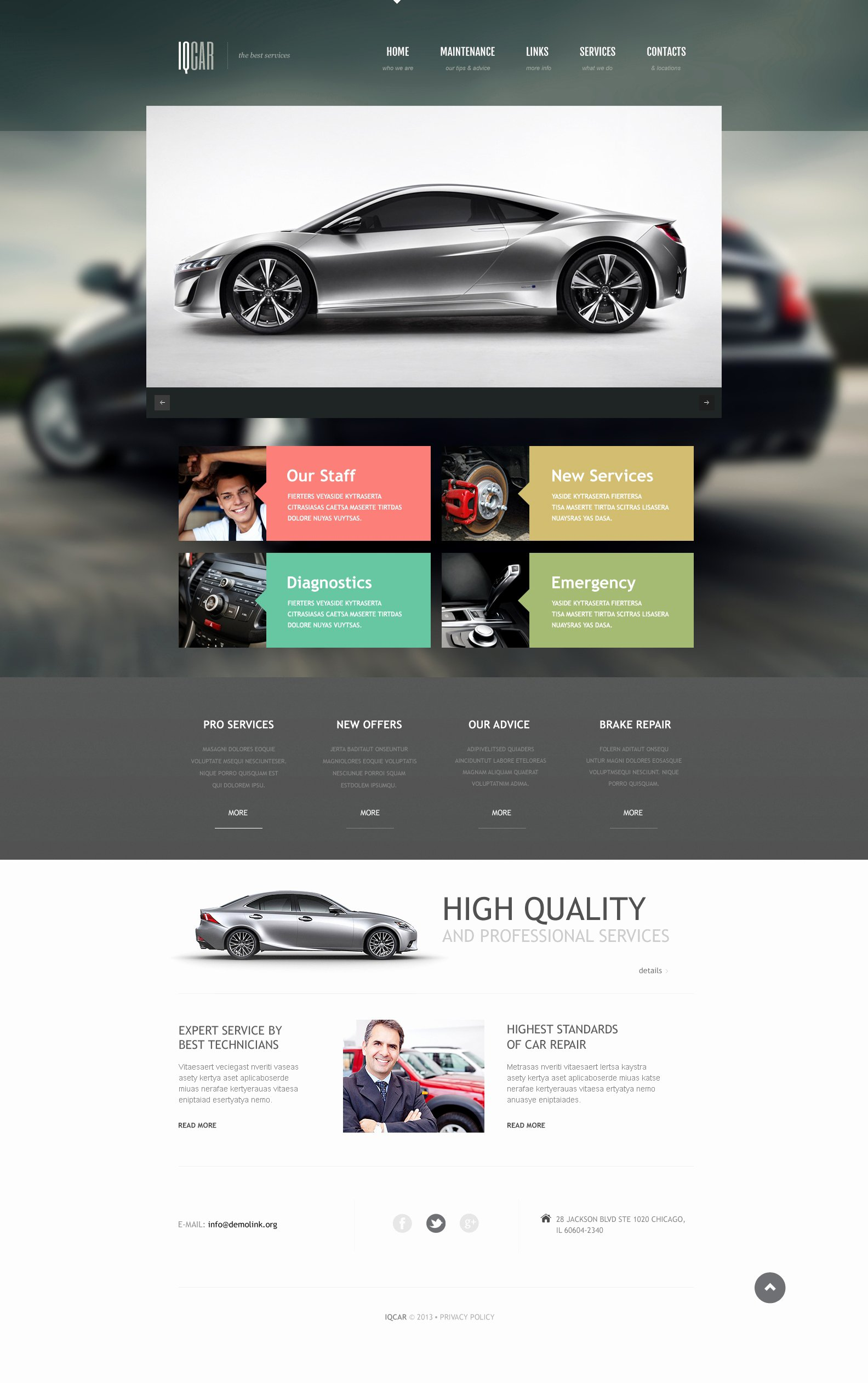 Auto Repair Website Template Best Of Car Repair Responsive Website Template