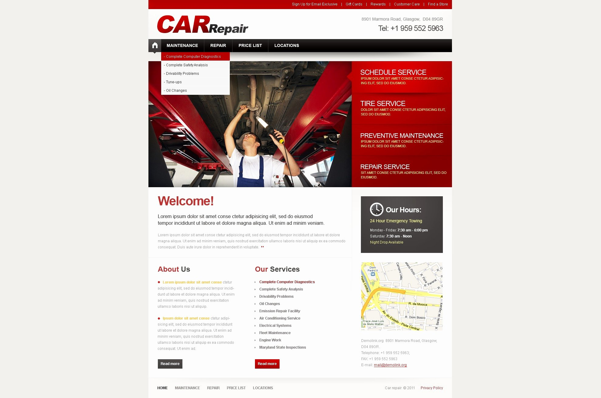 Auto Repair Website Template Best Of Car Repair Website Template