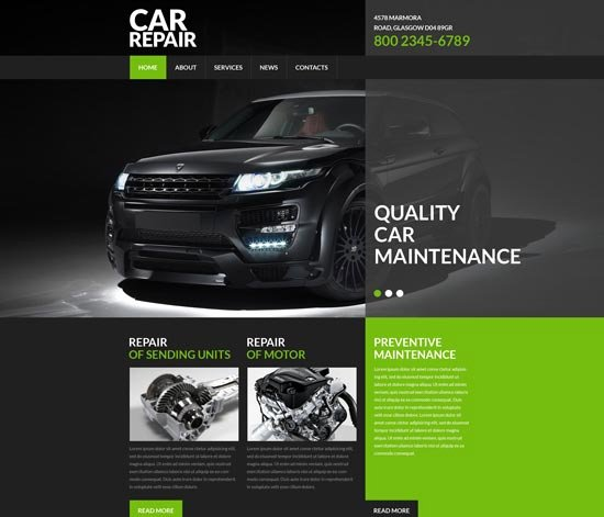 Auto Repair Website Template Elegant 70 Best Car Auto Website Templates Free & Premium
