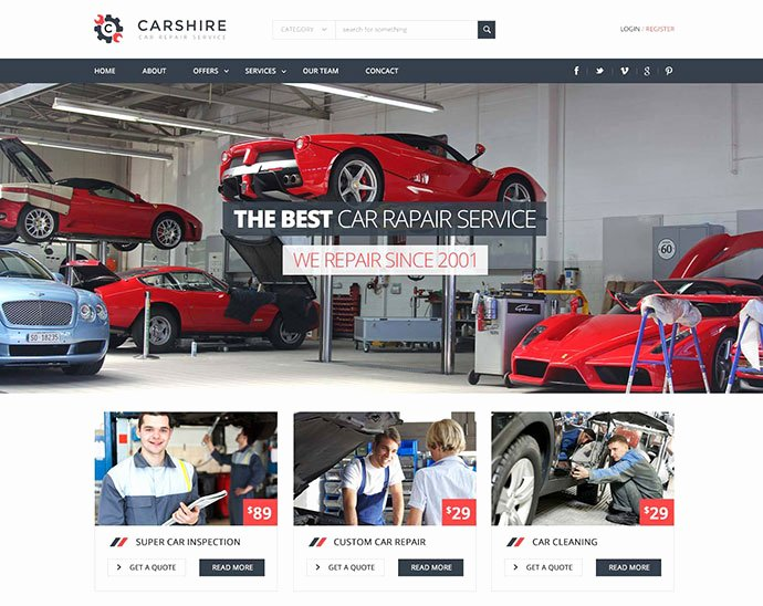 Auto Repair Website Template Elegant 75 Best Business & Services Web Design Templates