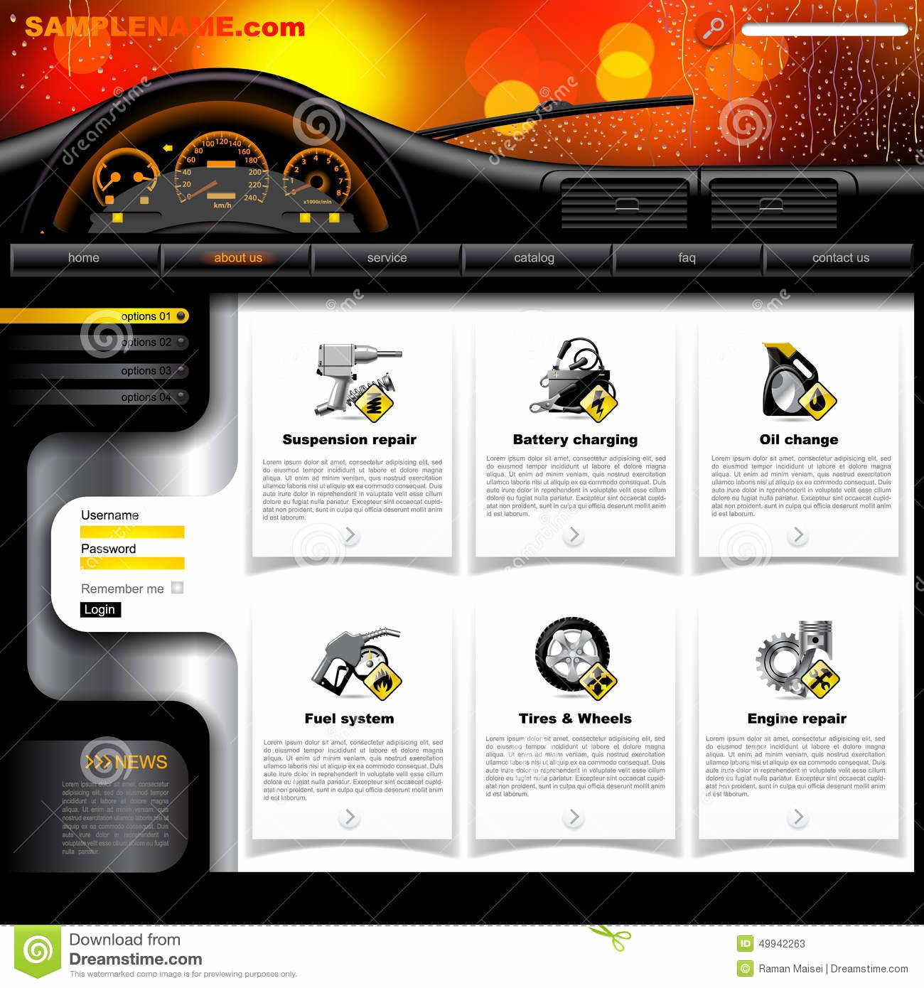 Auto Repair Website Template Fresh Automobile Service Website Template Stock Vector Image