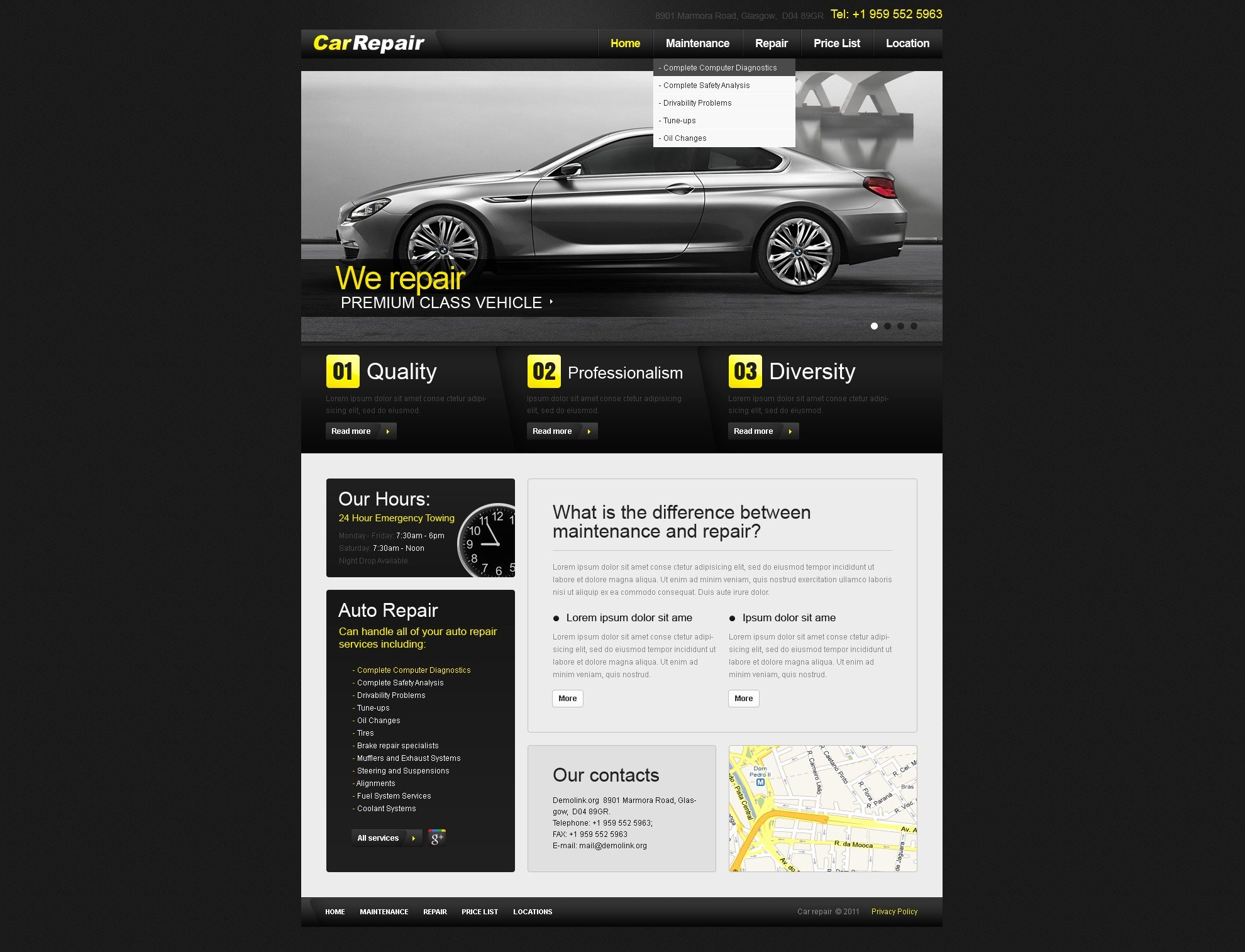 Auto Repair Website Template Fresh Car Repair Website Template