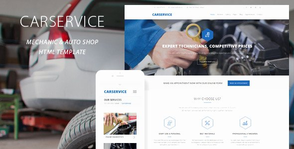 Auto Repair Website Template Fresh Car Service Mechanic Auto Shop Template by Quanticalabs