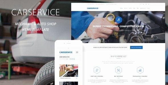 Auto Repair Website Template Fresh Car Service Mechanic Auto Shop Template by Quanticalabs