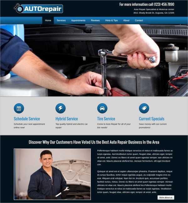 Auto Repair Website Template Inspirational 25 Auto Repair Website themes & Template