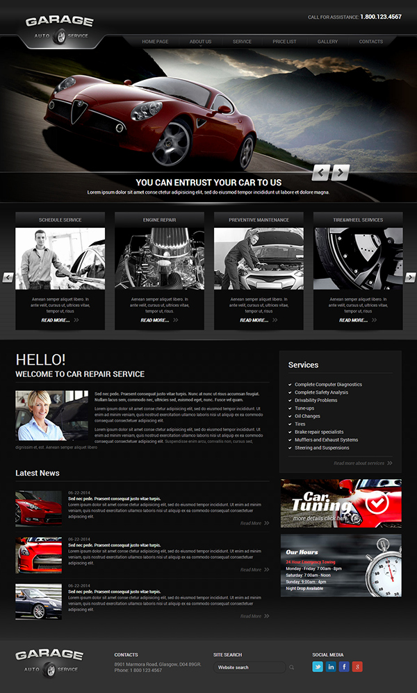 Auto Repair Website Template Inspirational Auto Service V3 Joomla Template On Behance
