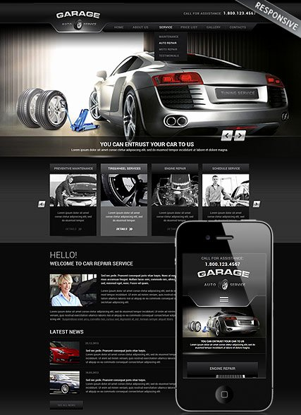 Auto Repair Website Template Inspirational Car Repair Service Wordpress Template Id From