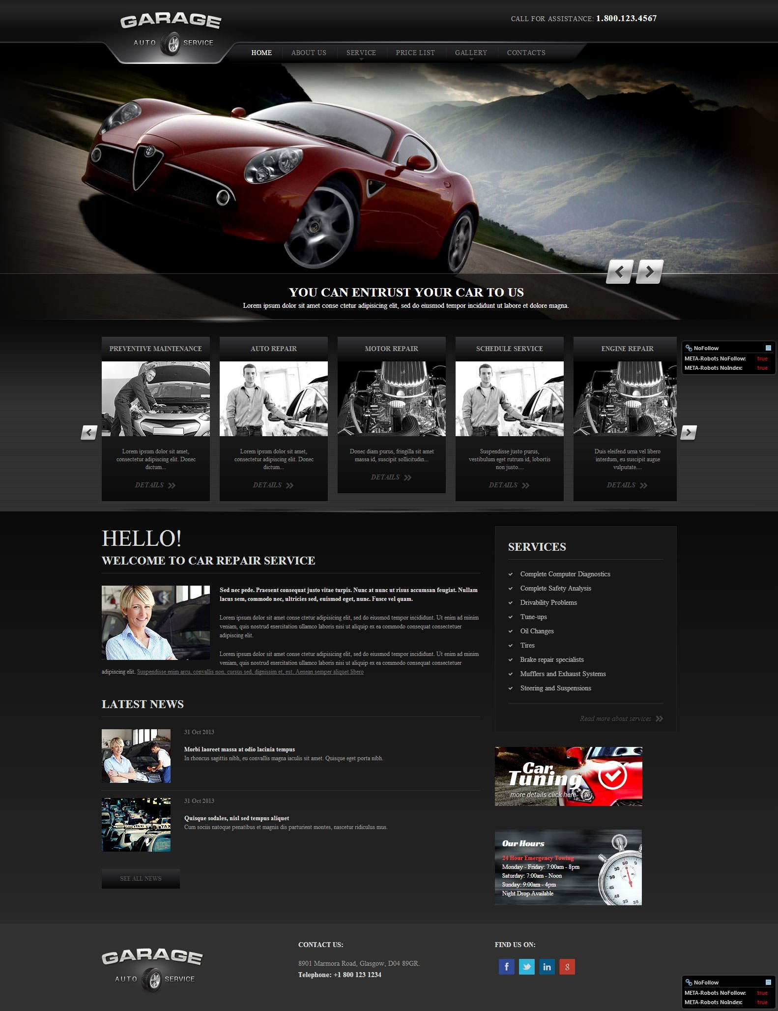 Auto Repair Website Template Lovely 22 Best Premium Car Website Templates
