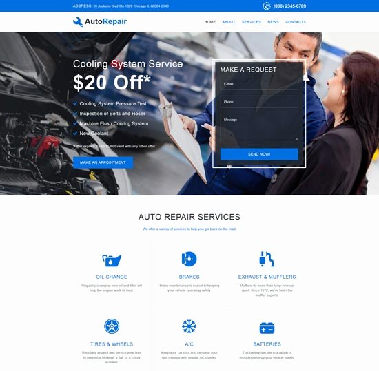 Auto Repair Website Template Lovely 70 Best Car Auto Website Templates Free & Premium