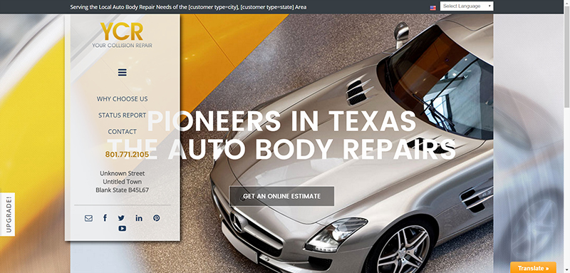 Auto Repair Website Template Lovely Auto Body Websites Examples