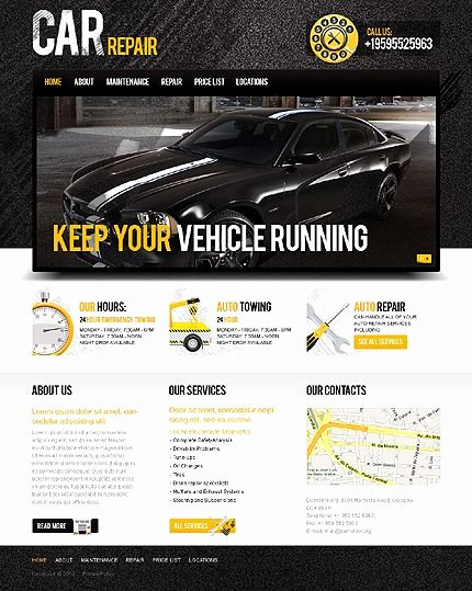 Auto Repair Website Template Luxury 17 Best Images About Car Repair Website On Pinterest