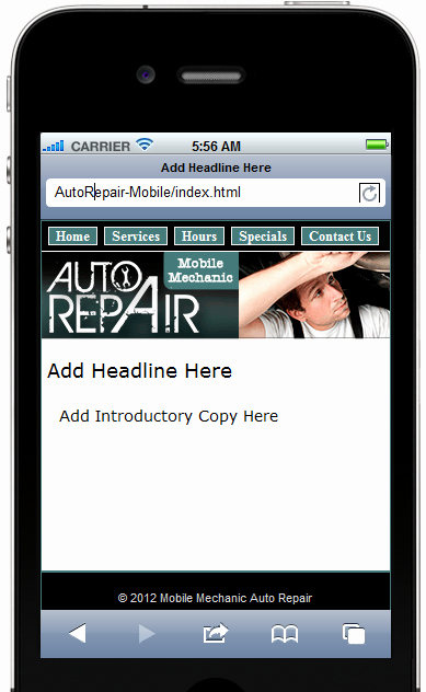 Auto Repair Website Template New Auto Repair Mobile Site Template – In E Products