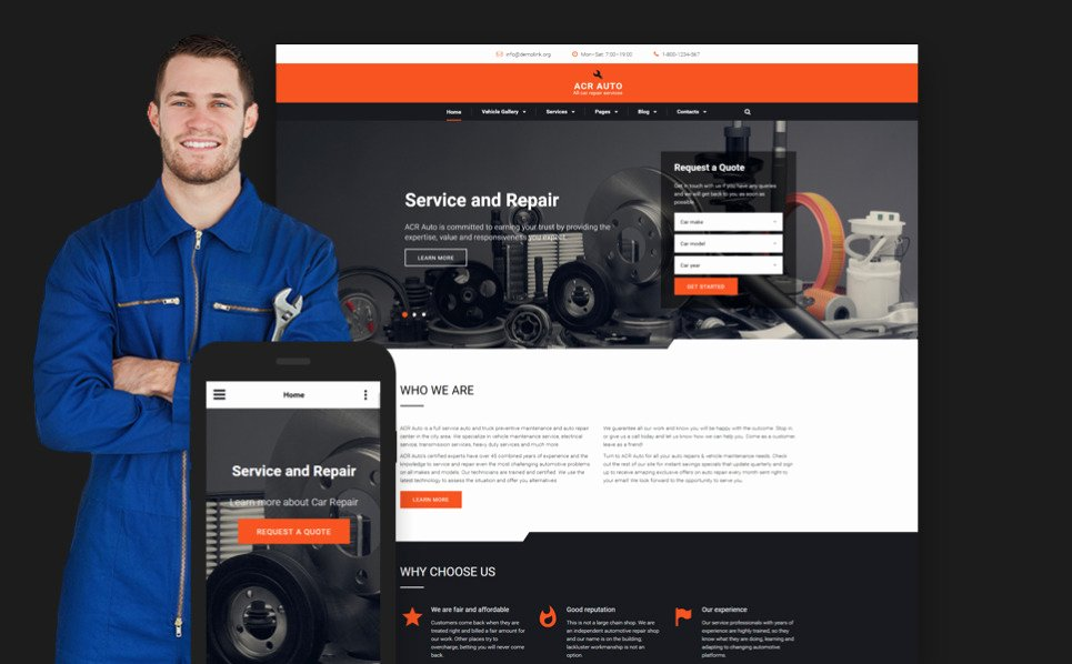 Auto Repair Website Template New Car Repair Website Template