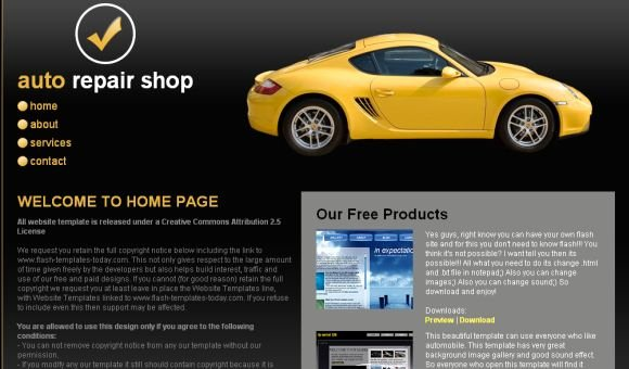 Auto Repair Website Template Unique Auto Repair Shop Css Website Template Free Web Templates