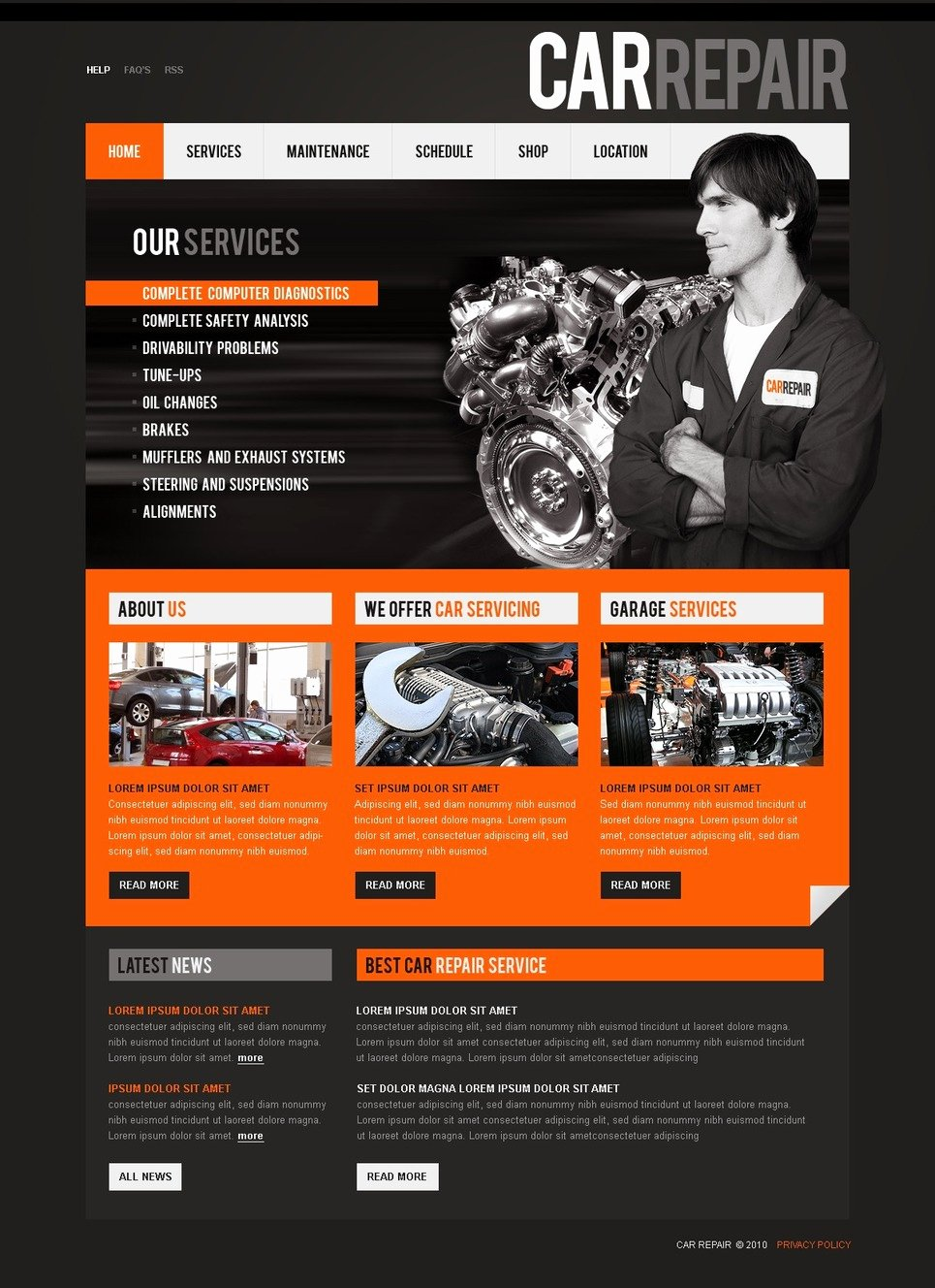 Auto Repair Website Template Unique Car Repair Website Template Web Design Templates