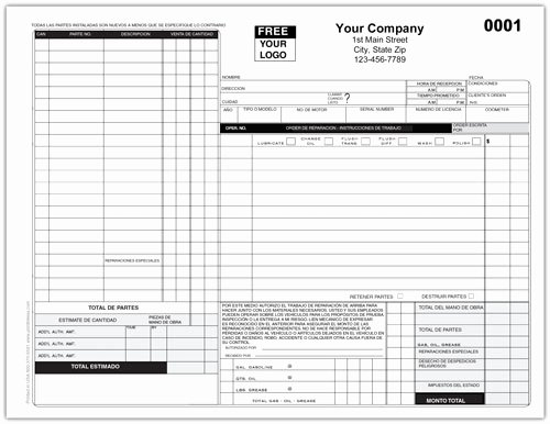 Auto Work order Template Beautiful Auto Repair Work order