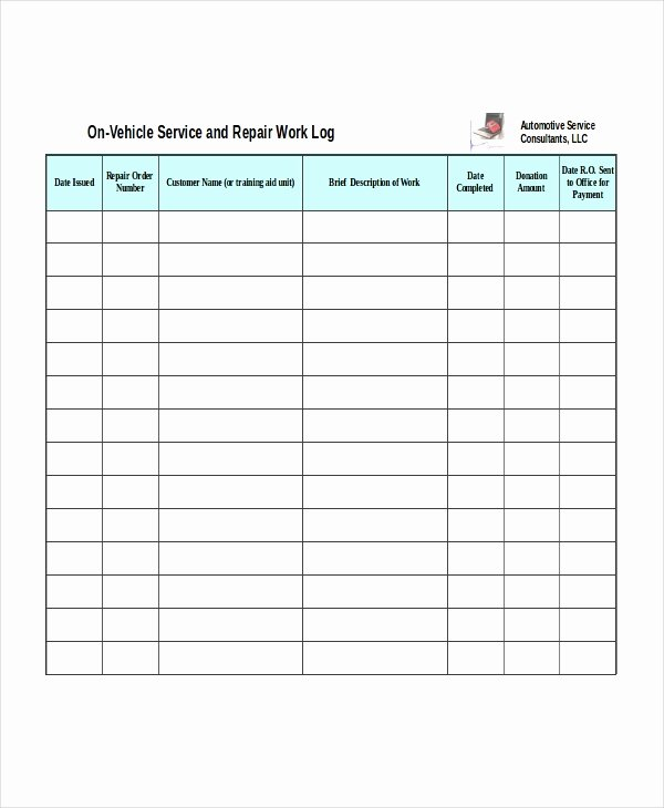 Auto Work order Template Best Of Excel Work order Template 13 Free Excel Document