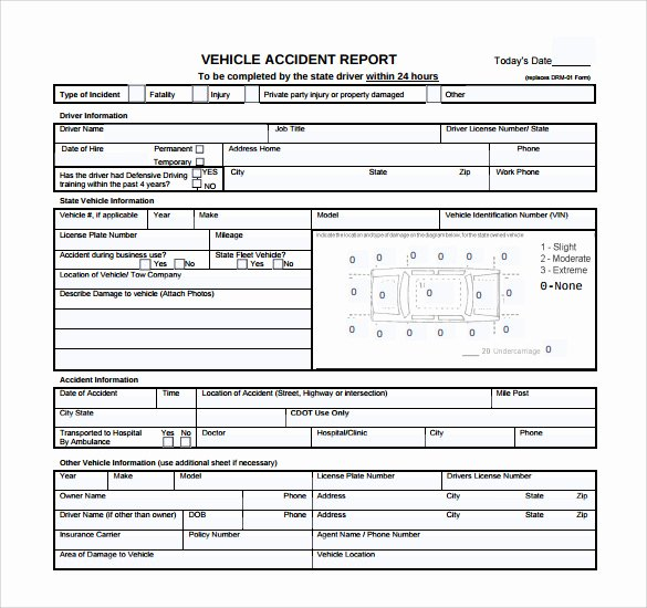 Automobile Accident Report form Template Elegant 12 Sample Accident Report Templates – Pdf Word Pages