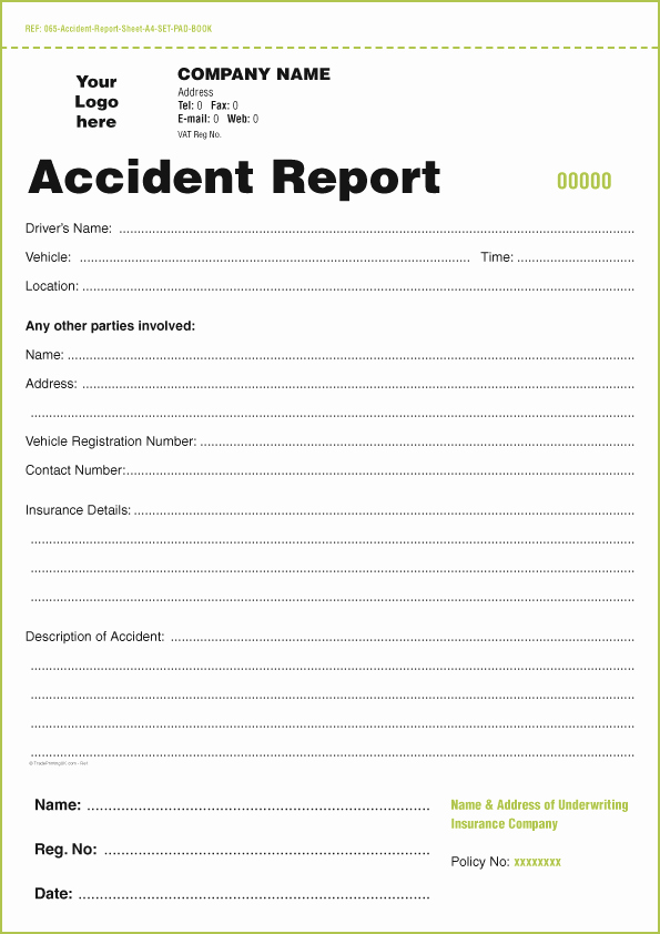 Automobile Accident Report form Template Lovely Templates for Accident Report Book and Vehicle Condition
