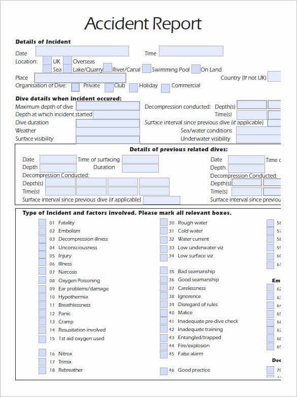 Automobile Accident Report form Template New Accident Reporting Template