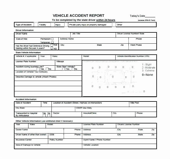 Automobile Accident Report form Template New Incident and Accident Report form Sample Template Free