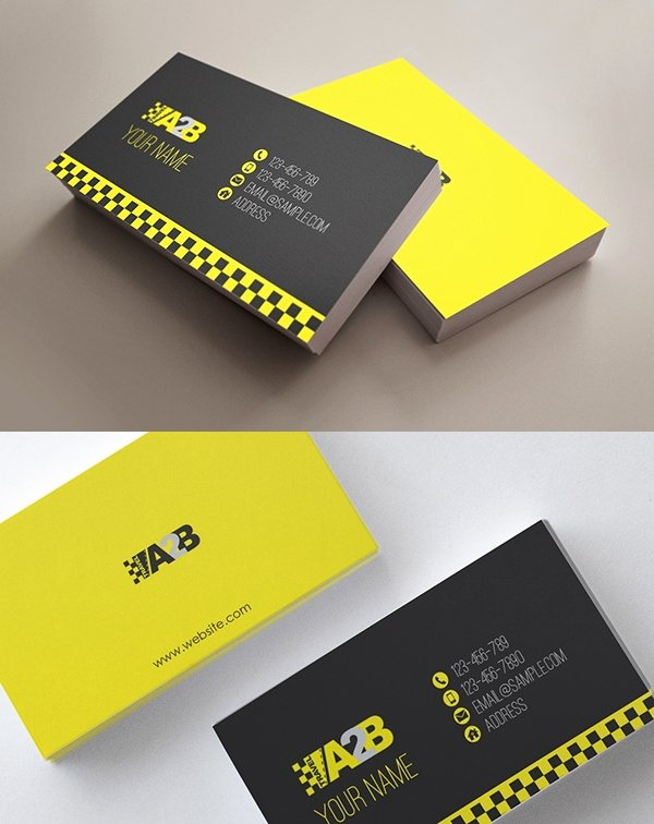 Automotive Business Card Template Free Awesome 13 Taxi Business Card Templates Ai Pages Word