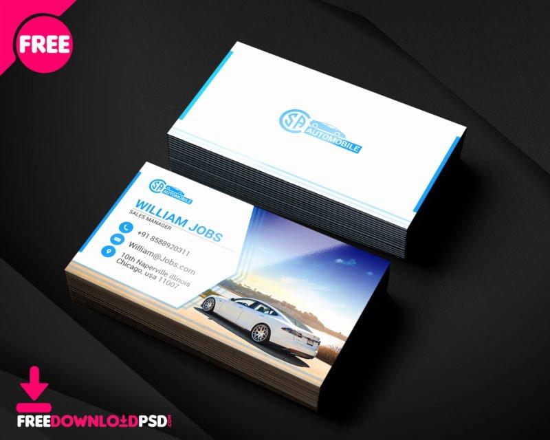 Automotive Business Card Template Free Beautiful [free] Automotive Business Cards Psd