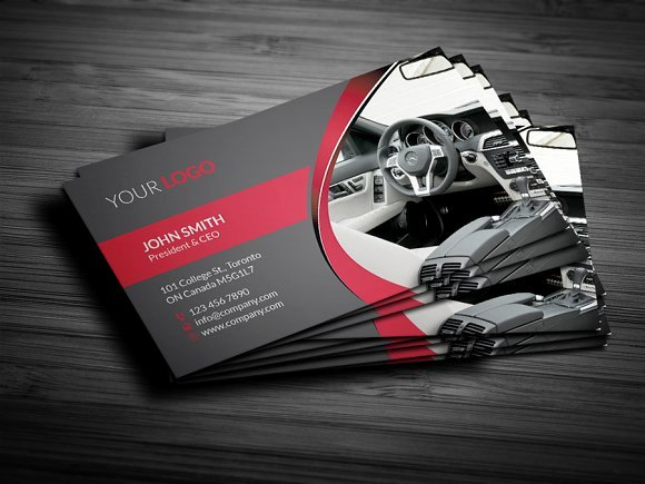 Automotive Business Card Template Free Beautiful Rent A Car Business Card Business Card Templates