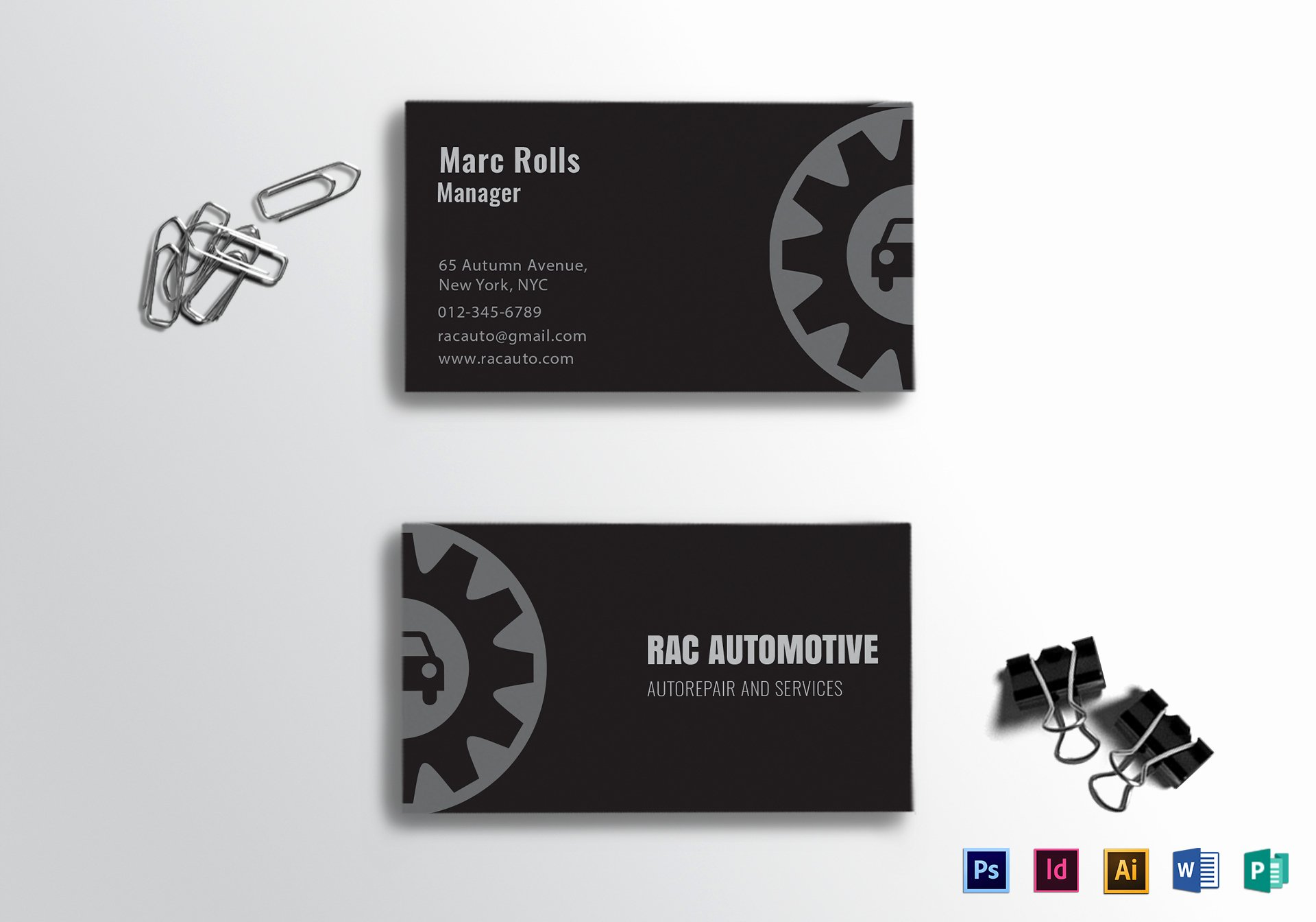 Automotive Business Card Template Free Best Of Automotive Business Card Design Template In Psd Word