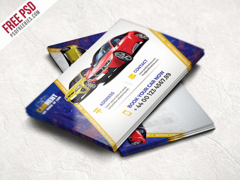 Automotive Business Card Template Free Elegant Freebie Car Dealer Business Card Template Free Psd by