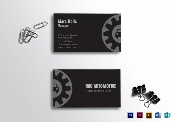 Automotive Business Card Template Free Fresh 22 Automotive Business Cards Free Psd Ai Eps format