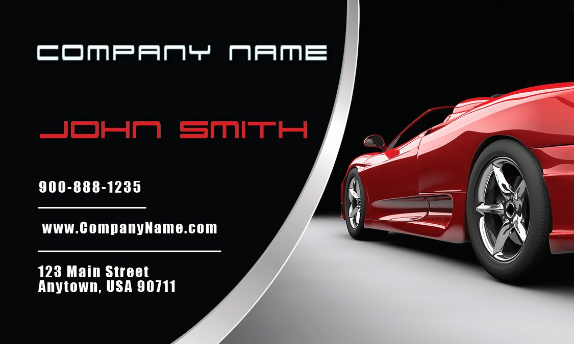 Automotive Business Card Template Free Fresh Automotive and Car Shop Business Cards