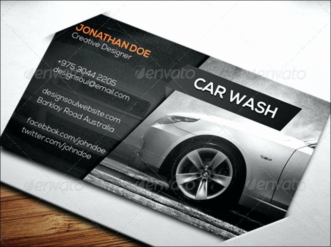 Automotive Business Card Template Free Fresh Automotive Business Card Templates Elegant Car Wash Free