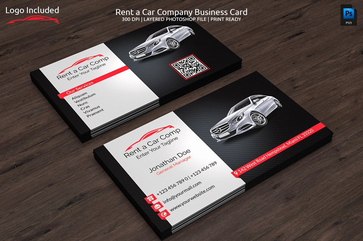 Automotive Business Card Template Free Fresh Rent A Car Business Card Business Card Templates On