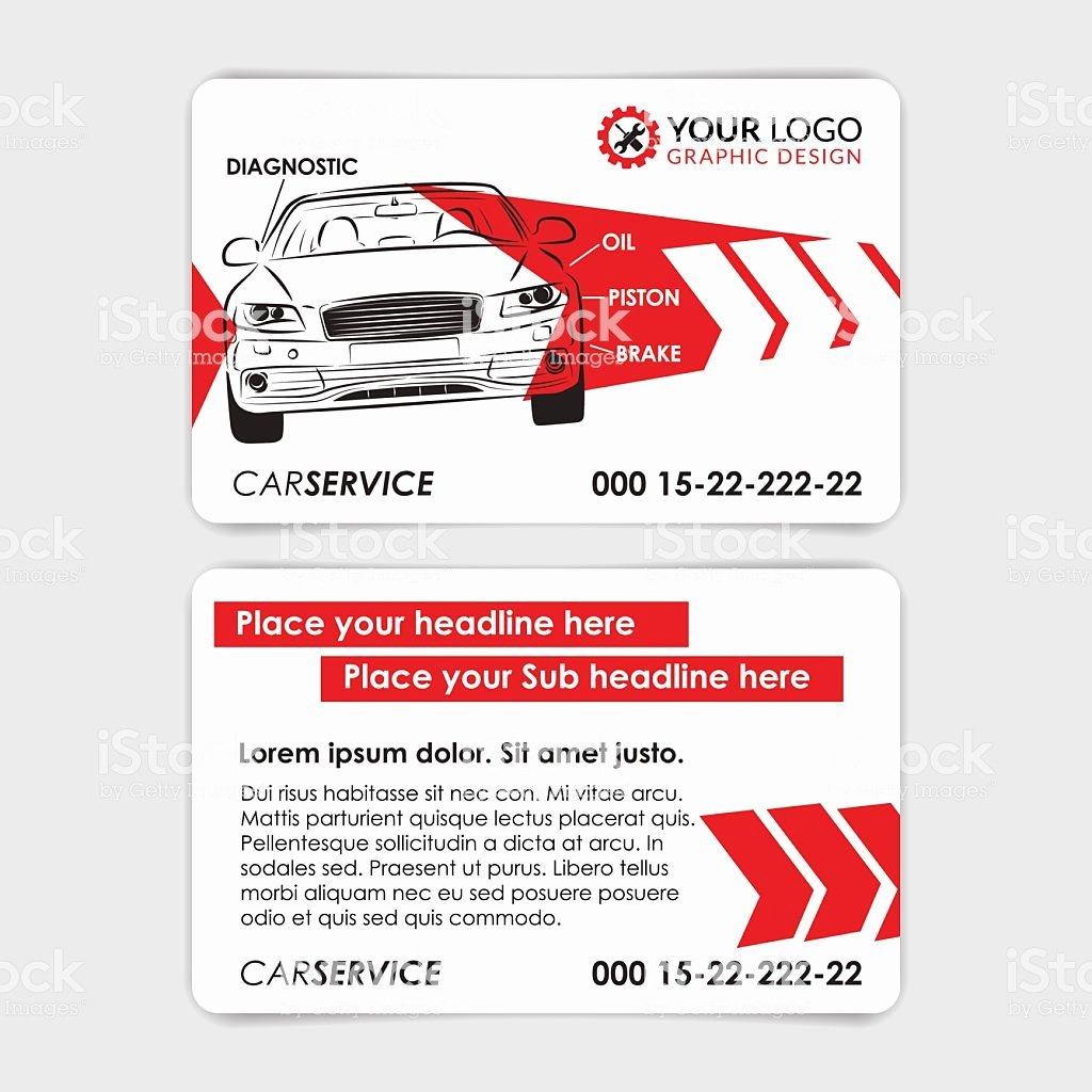 Automotive Business Card Template Free Inspirational Auto Repair Business Card Template Create Your Own