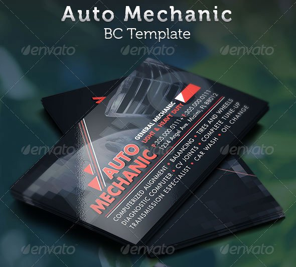 Automotive Business Card Template Free Lovely 20 Best Automotive Business Card Design Templates