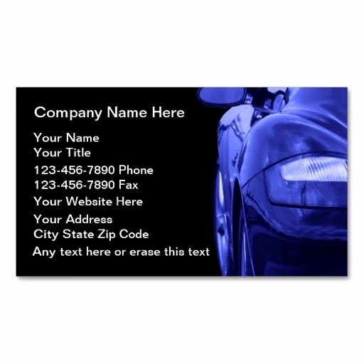Automotive Business Card Template Free Lovely 306 Best Images About Automotive Business Card Templates